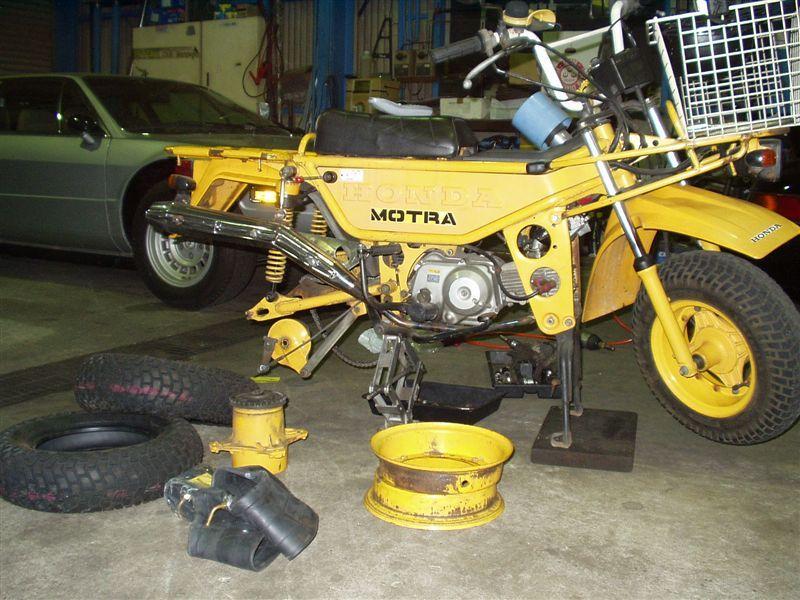 ホンダ モトラ  MOTORA 工場から買い物に行くときに使ってます。