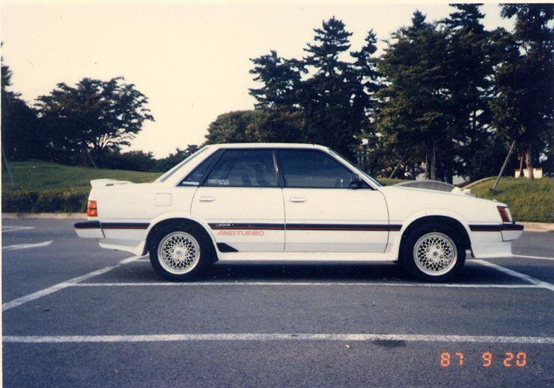 1986年(昭和61年)式 スバルレオーネ(AA-7) GTターボ 就職して初めて購入した車です
