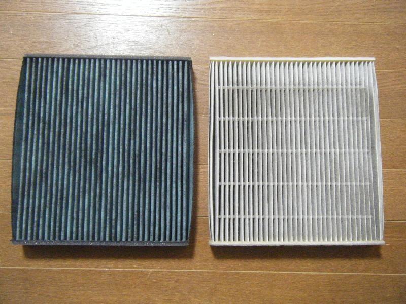 エアコンフィルターの交換