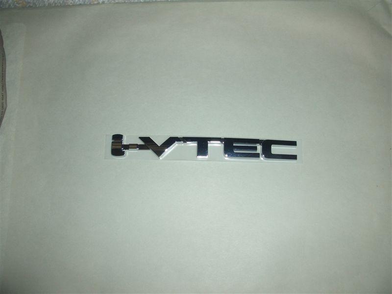 ホンダ純正(海外仕様) i-VTECエンブレム  i-VTECエンブレムは色々ありますが、メッキ
