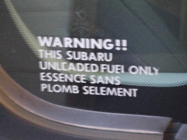 無鉛ガソリンステッカー