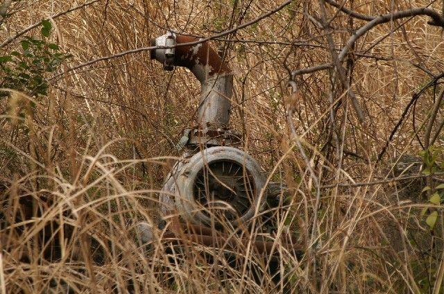 [大きい写真で見る]「旧立川飛行場」内 枯れ草の間にポンプ?発見(^^ ... 旧 立川飛行場
