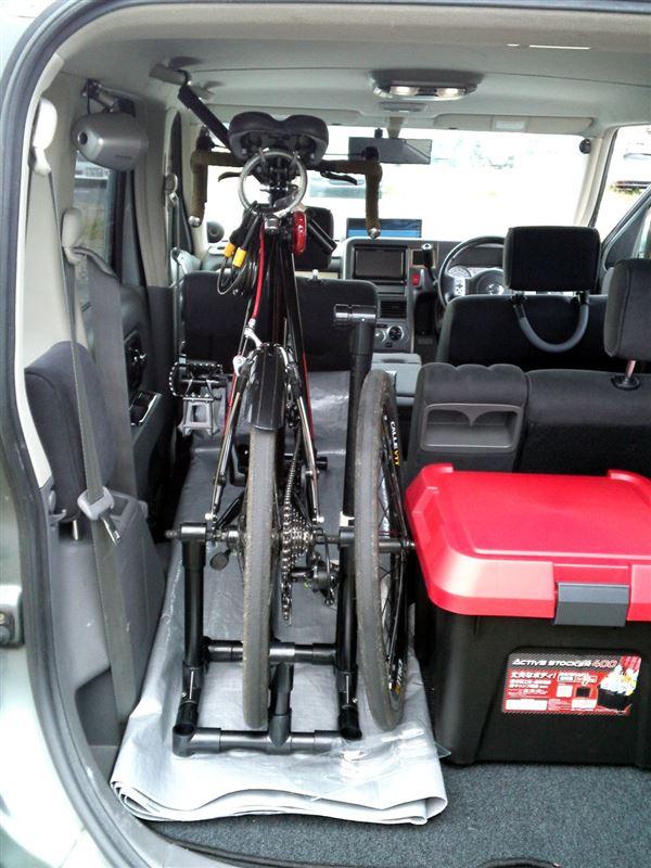 自転車の 自転車 キャリア 車載 自作 : キュービックに、自転車 ...