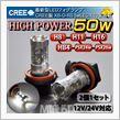 CREEチップ搭載★簡単取り付け&強力発光LEDフォグ★H8★H11★HB4★H16★PSX24★PSX26
