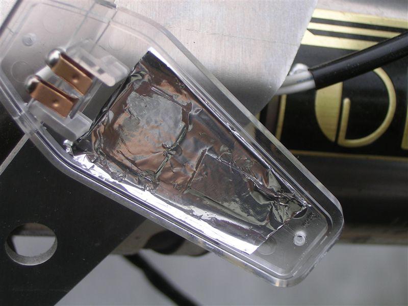 KSR110、フルカウル化に伴い、エアロウインカー取り付け