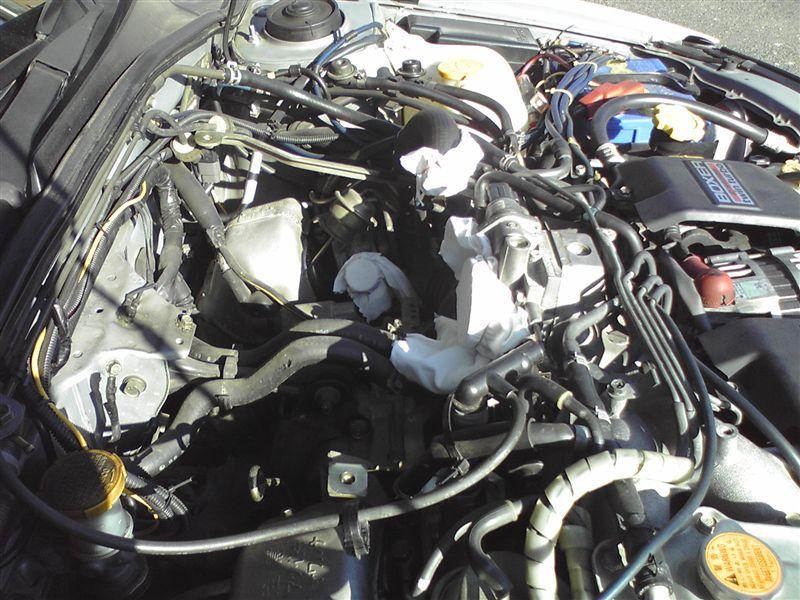 BH5A(MT)のインタークーラーの掃除その1(取り外し)