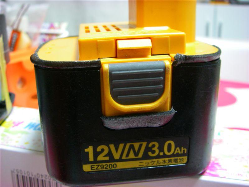 充電ドリルドライバー用バッテリーEZ9200セル交換