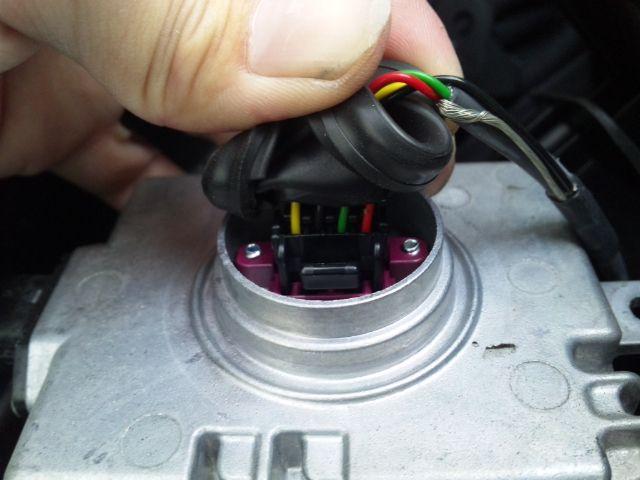 純正HID移植プロジェクターヘッドライト取り付け