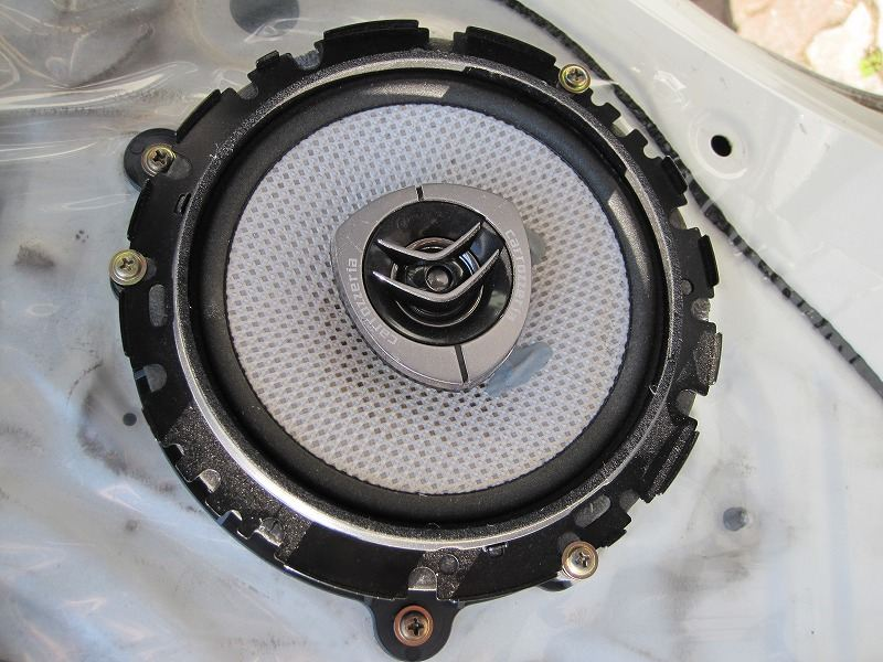 フロントスピーカー交換 carrozzeria TS-F16