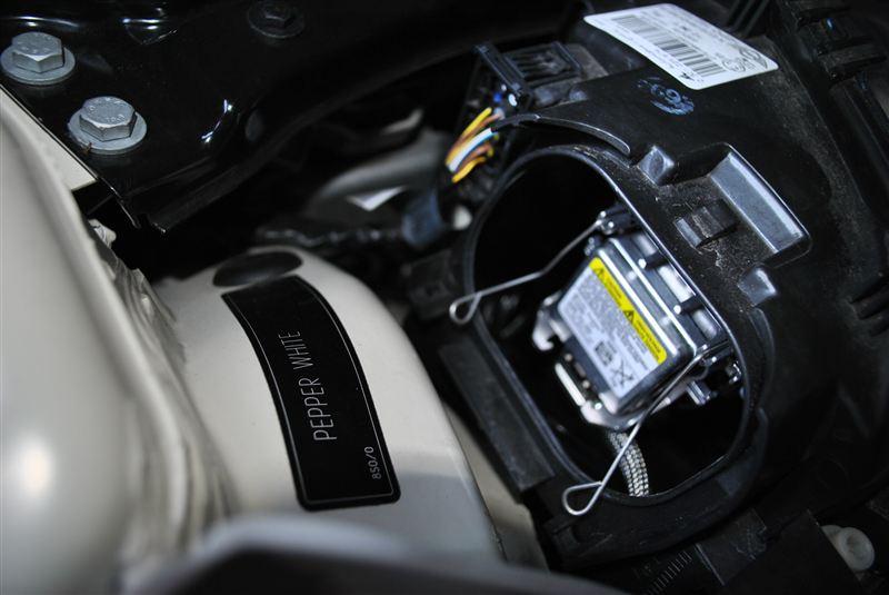 mini R56 ヘッドライトHID 6000Kに交換 その1