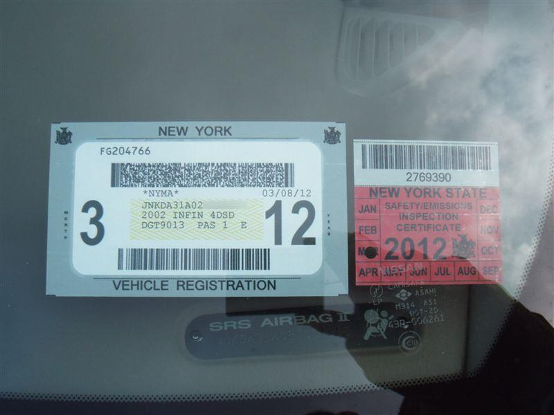 Nys car inspection sticker color