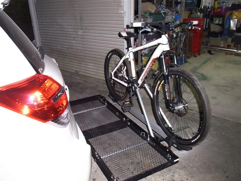 自転車の 自転車 ルーフキャリア 自作 : で、ルーフのサイクルキャリア ...
