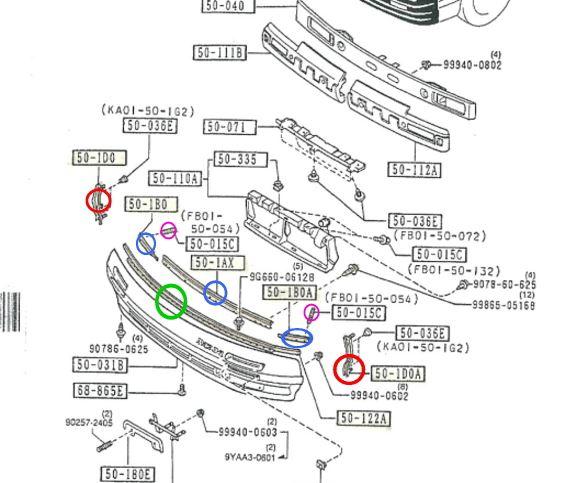 Fバンパー留め具|SAVANNA_RX-7/MAZDA|Maintenance Handbook|FC-KUN