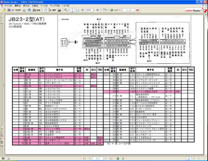 Jb23 2型atのecu配線図 ジムニー スズキ 整備手帳 かずら みんカラ 車・自動車sns(ブログ・パーツ
