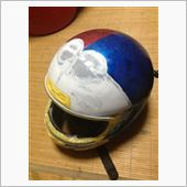 ヘルメット塗装 ドラヘル作成