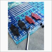リアのブレーキパッド交換の画像