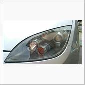 ヘッドライト磨きとコーティング(^-^)v