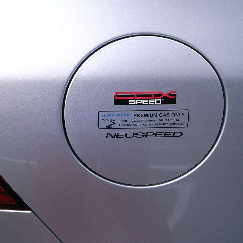 maniacs・COX・NEUSPEED ステッカー  maniacsの使用ガソリンのオクタン価