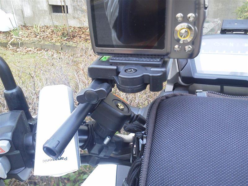 自転車用 自転車用カメラマウント : ... 自転車 ハンドル固定用 カメラ