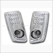 Auto Wear 30系プリウス LEDウィンカー+LEDポジション/デイライト一体型プロジェクターフォグ(クリア) の画像