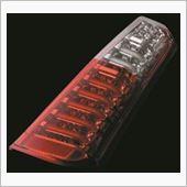 Valenti JEWEL LED テールランプ ハーフレッド/クロームの画像