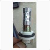 CURE(キュア) LEDバルブ S25 50W ダブル レッド 赤 180°段違いピン