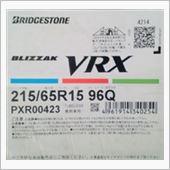 BRIDGESTONE BLIZZAK VRXの画像