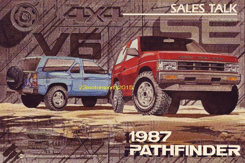 北米日産純正 セールス トーク マニュアル D21 パスファインダー 1987
