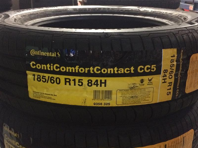 continental conticomfortcontact cc5 185 60 r15 84h. Black Bedroom Furniture Sets. Home Design Ideas