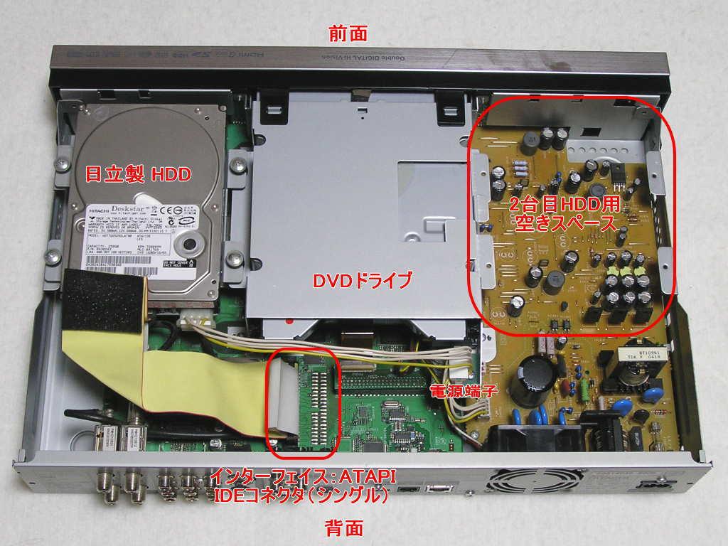 ① 日立 DVDレコーダー DV-DH250D