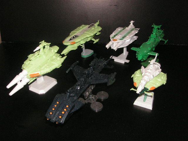 [大きい写真で見る]白色彗星帝国艦隊 ヤマト/地球防衛軍艦隊と交戦した帝... 過去の作品集8ー