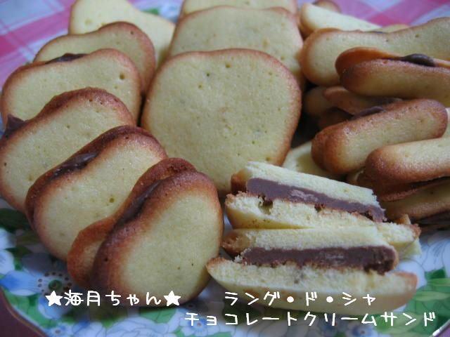 ★海月ちゃん★ラング・ド・シャのチョコレートサンドの作り方