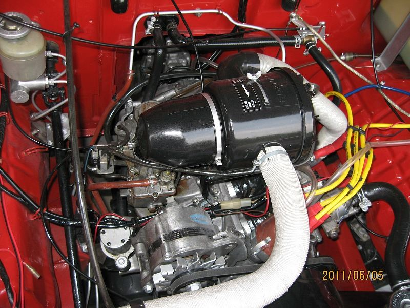 フルレストアSJ30エンジンルーム