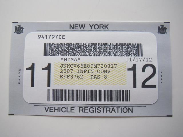Registering your car in new york state