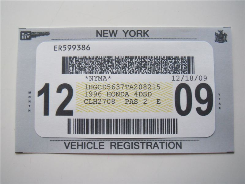 New York State Registration Sticker Ii Other All Car. Watch More Like Nj Inspection Sticker 2017