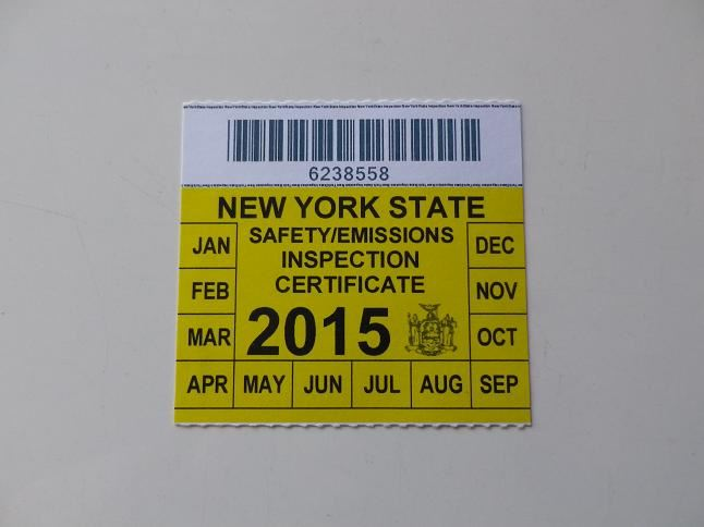 Nys car inspection sticker 13