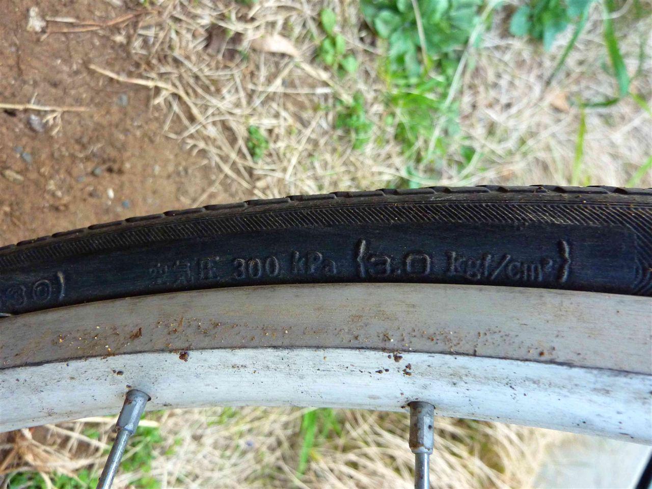 自転車やタイヤの種類によって ...