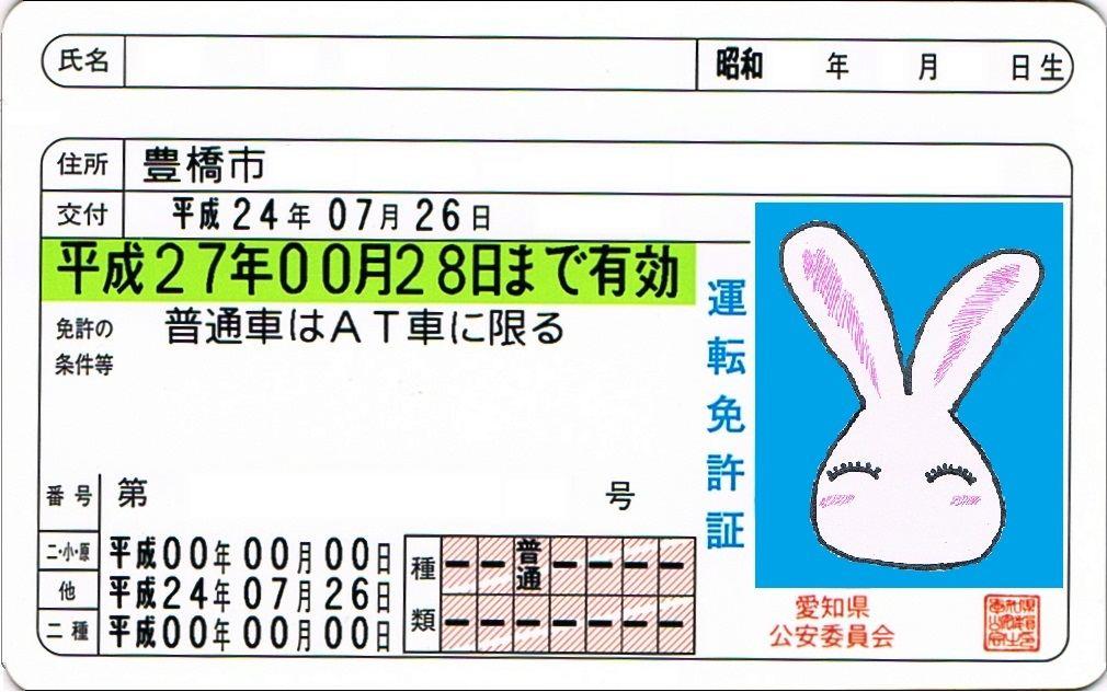 自転車の 自動車運転免許証取得 : ... 自動車SNS(ブログ・パーツ