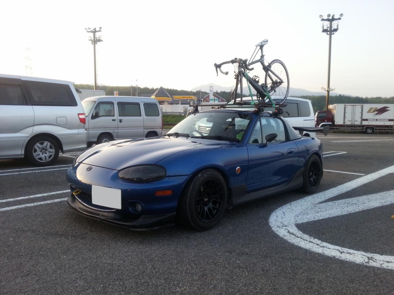 自転車の 自転車 キャリア 車載 自作 : ロードスターにロードバイクを ...