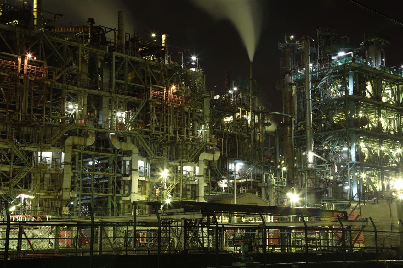 工場夜景に萌えた